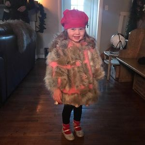 Corky & Company Toddler Faux Fur Coat